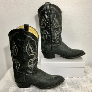 Vintage Tony Lama Shoulder Leather Western Boots
